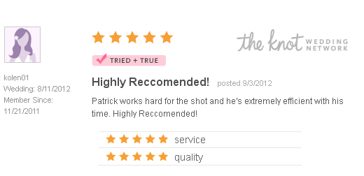 Good Review - The Knot - Minneapolis St. Paul Wedding Photographer