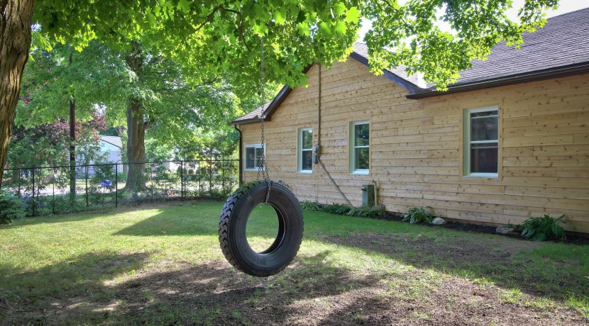 tire swing to front