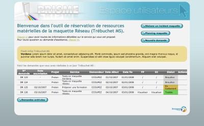 Bouygtel - PRISME - Habillage pour un intranet SharePoint (dév. Brainsoft)