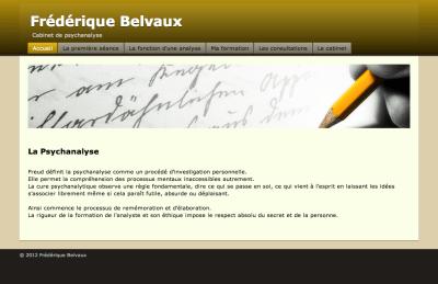 Frédérique Belvaux - Site RapidWeaver