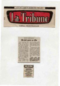 La Tribune Patrick Huet Petite Fleur des Champs