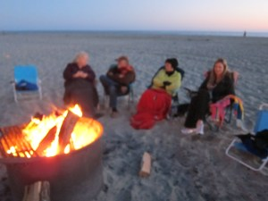 Campfire on the beach- Spring break