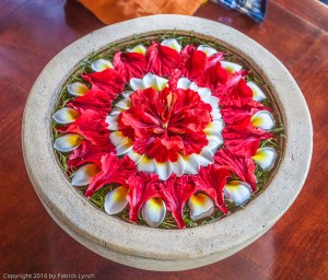 Everyday beauty, Common offering of flowers in Bali