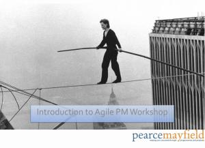 Introduction to Agile Workshop Title Slide