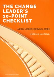 Change Leader Checklist