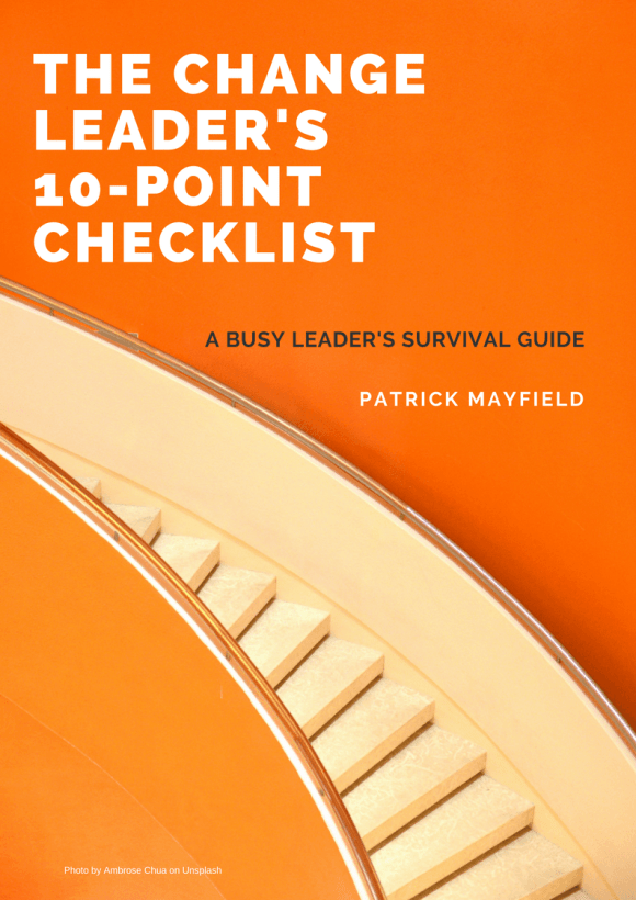 Change Leader Checklist