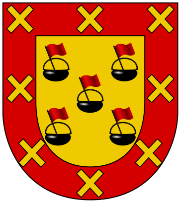 Basic form of the Calderon coat of arms