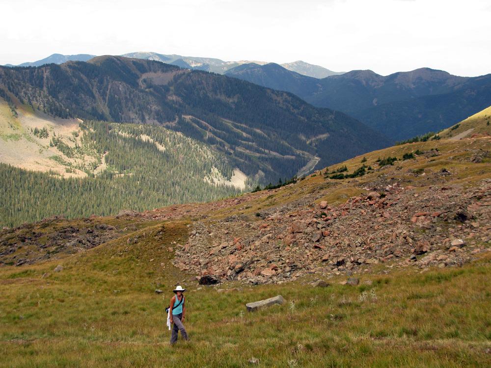 Almost to the summit ridge.