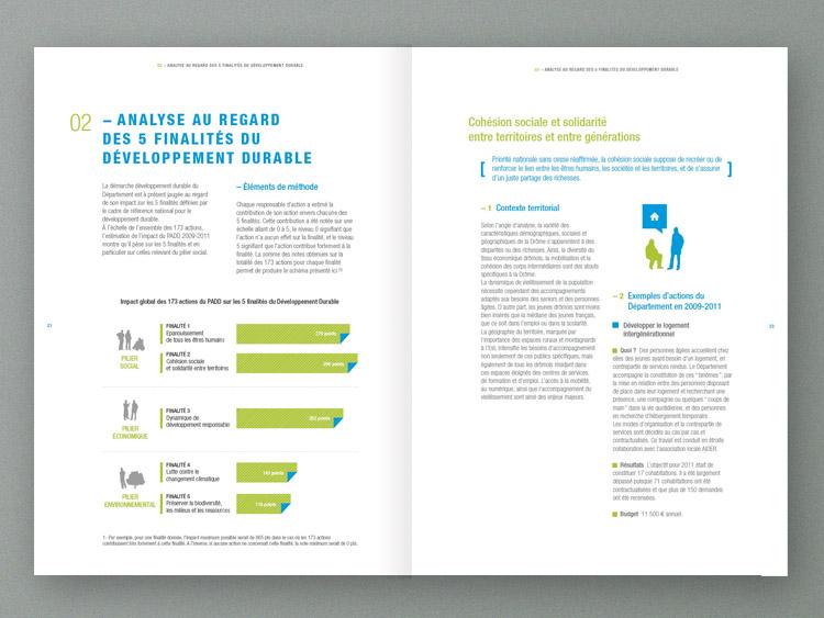 Design Graphique Lyon Rapport Activité Conseil Général Drôme