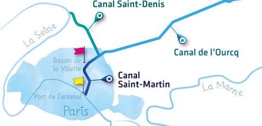 Les canaux parisiens
