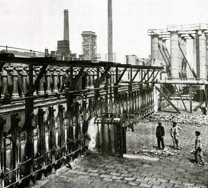 Barakaldo. Batería de coque. 1908 (Foto: Colección Miguel Ángel Martínez Vitores)