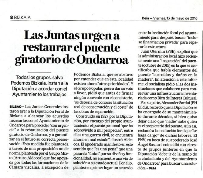 Diario Deia 13/05/2016