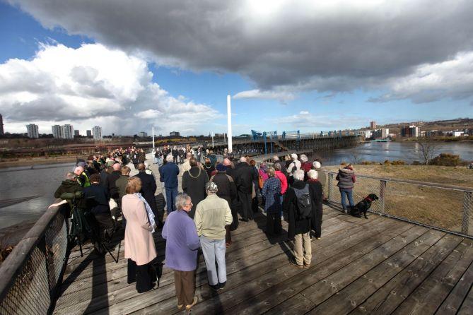 Inauguración de Dunston Staithes en marzo de 2015.