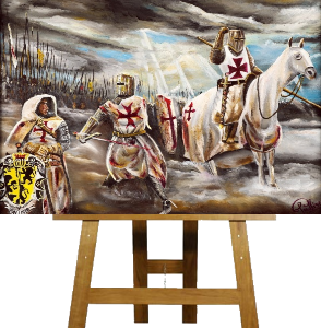 English knights Art & Knights Templar Art