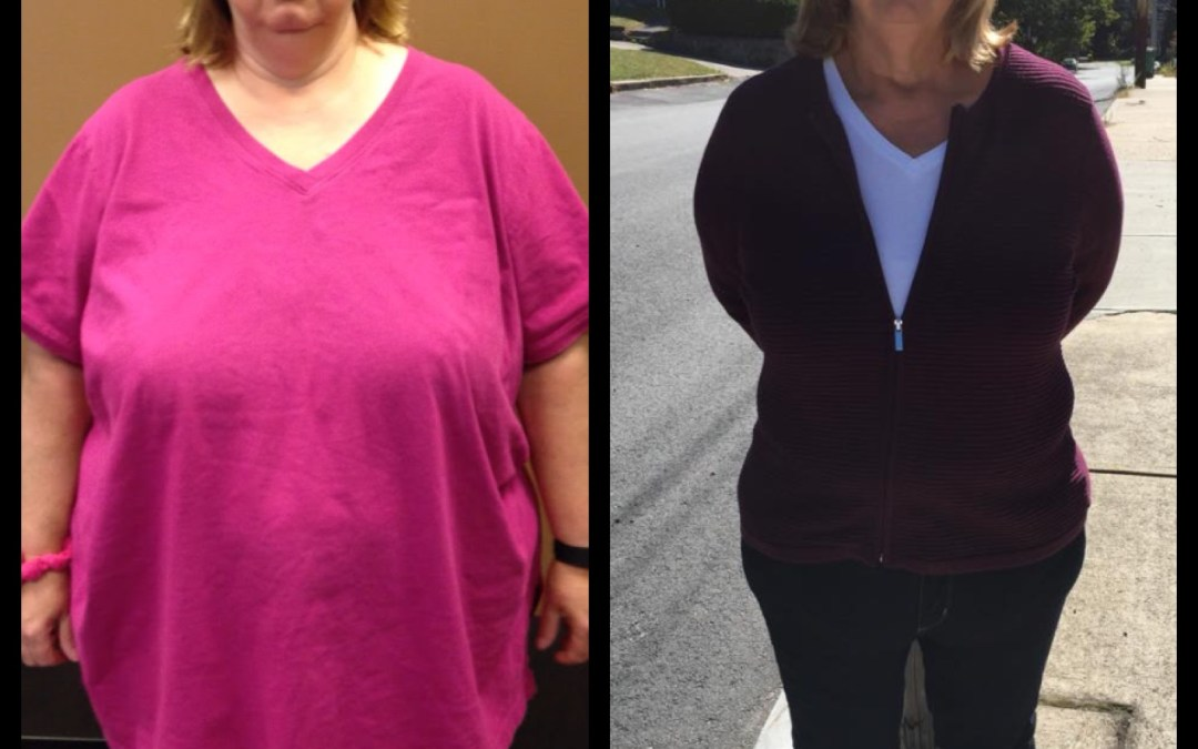 90 pounds down and into smaller sizes!
