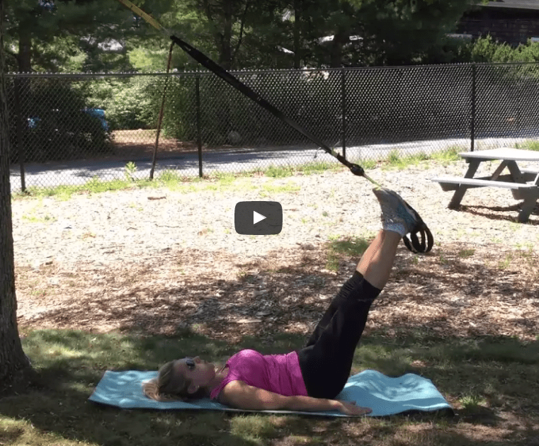 Elevated TRX Hamstring Curls – exercise of the week.