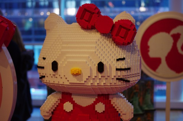 lego hello kitty at fao schwarz