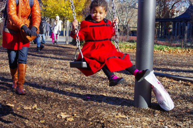 a thanksgiving day swing in central park