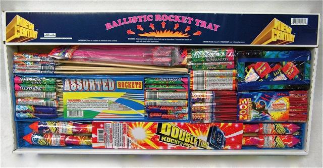 Patriotic Fireworks  Rocket Tray Assortment 16057