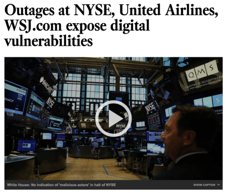 NYSE WSJ United hack