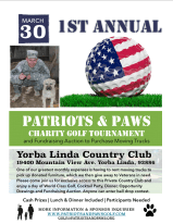 Patriots & Paws Golf Flyer