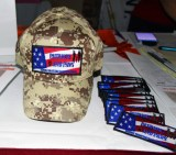 Digital Camo Hat with Patriots and Paws Patch