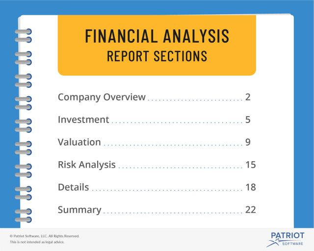 Financial Analysis Report  Steps, Sections, & More