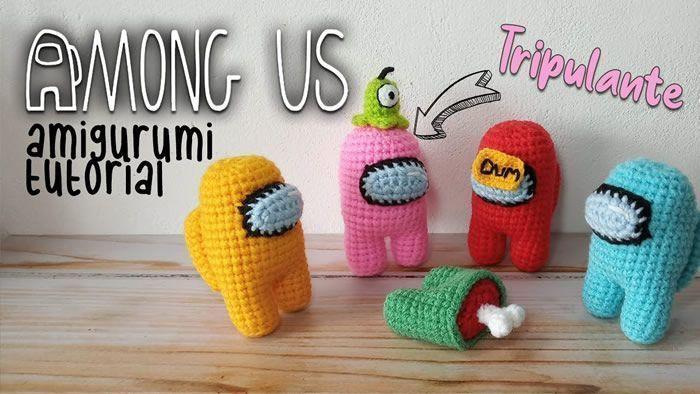 Among us crochet amigurumi tutorial paso a paso
