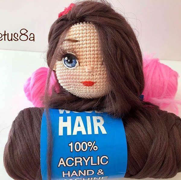 Pelo sintético para muñecas