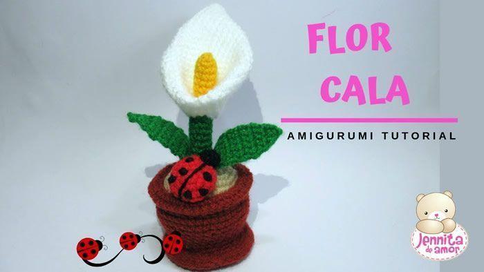 Flor cala amigurumi tutorial paso a paso