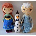 Elsa Anna y Olaf en amigurumi con patrón