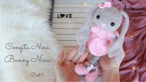 Conejita amigurumi Nina a crochet