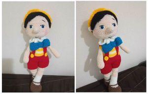 Pinocho amigurumi patrón gratis