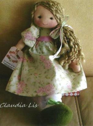 Muñeca de tela Pamela