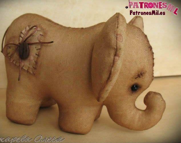 elefante vintage en tela 1