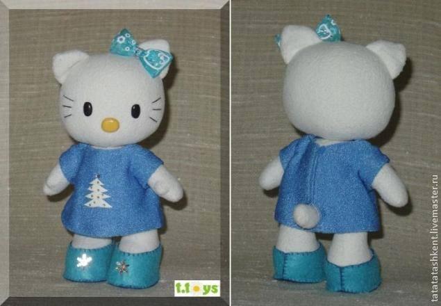 hello kitty de tela con vestido azul
