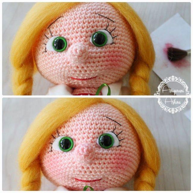maquillaje muñeca amigurumi 2