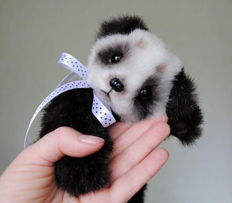 Osito peluche panda - Patrones gratis