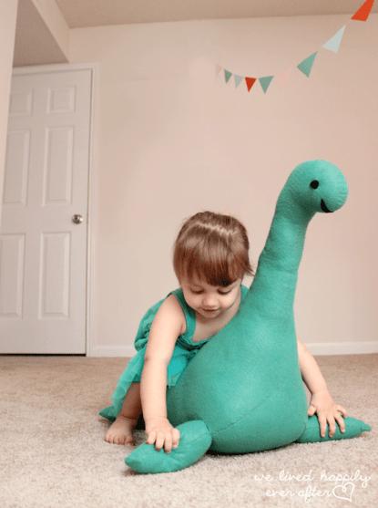Monstruo lago Ness - Juguete de peluche para niños