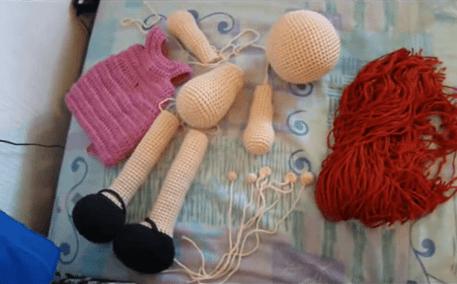 Proceso Para Armar Una Muñeca Amigurumi