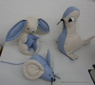 animales suaves raton conejo foca de trapo