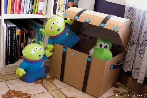 Ba l de carton patrones gratis - Baul para guardar juguetes ...