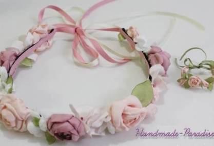 diadema de rosas para muñecas 2
