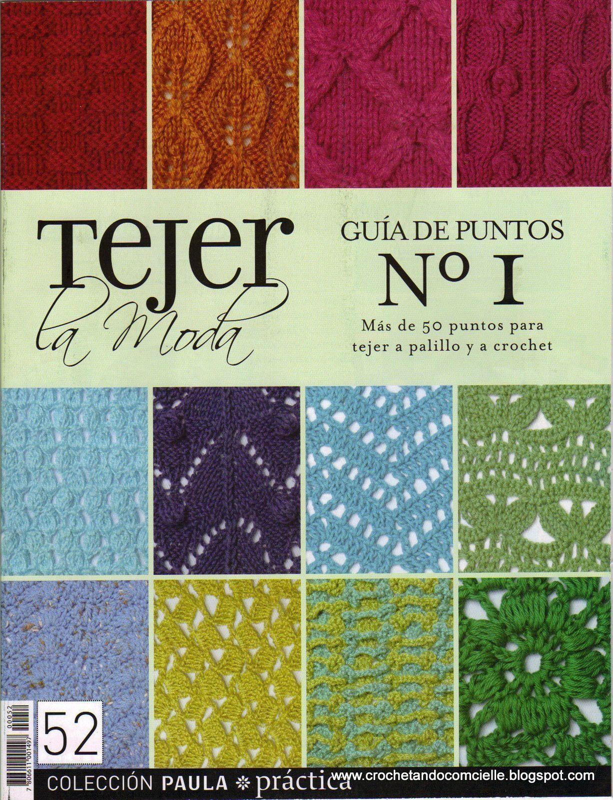 Guía de puntos para tejer a palillos y a crochet - Patrones gratis