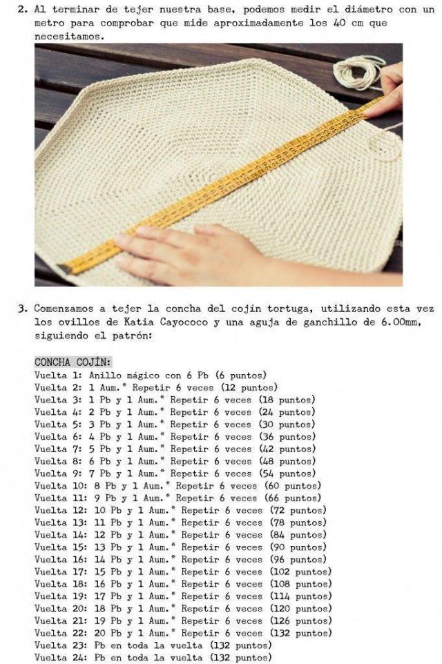tortuga crochet 4