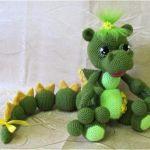 Dragona Verde amigurumi