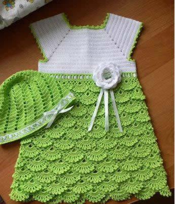 Patrón de vestido de niña a crochet - Patrones gratis