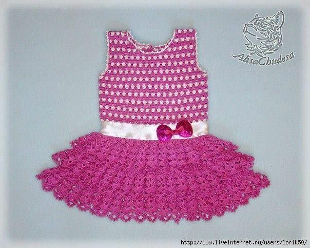 Vestido De Verano De Niña A Crochet Patrones Gratis