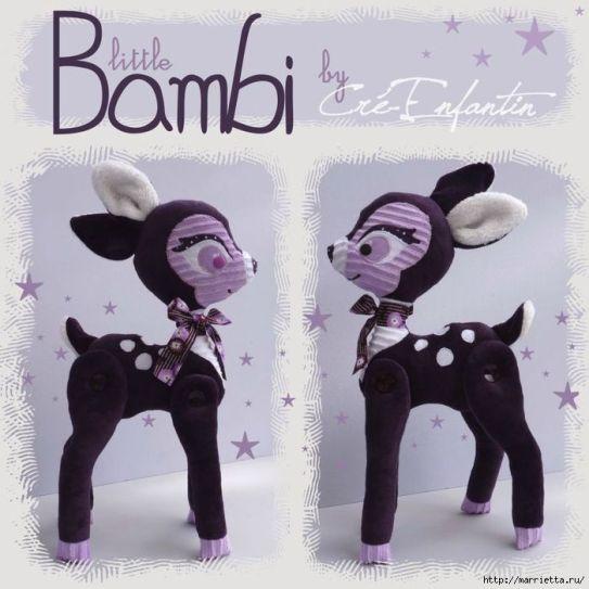 muñeco Bambi en tela
