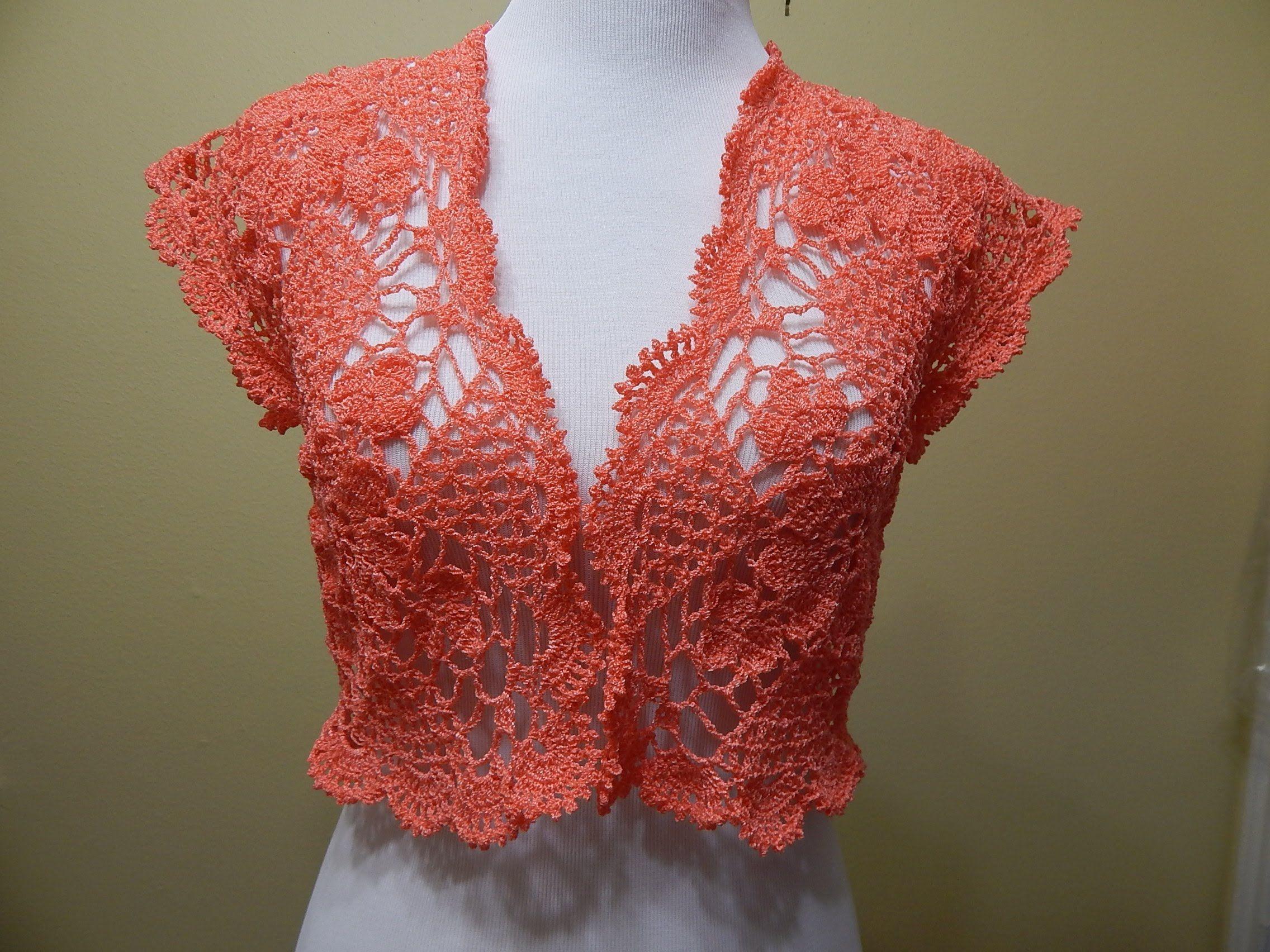 Bolero Primavera verano Crochet - Patrones gratis